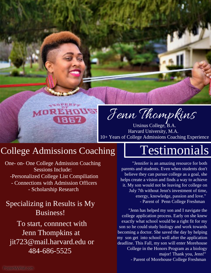 Jennifer Thomkins College Admission Coaching Services